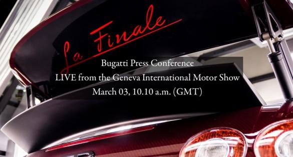Bugatti unveils last Veyron at Geneva International Motor Show